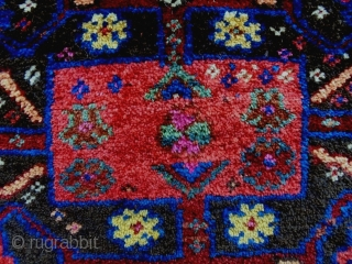 Afshar Bagface Size: 71x49cm Natural colors, made in period 1910/20