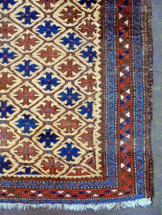 19th Century Universal Baluch Size: 95x155cm Natural colors, camel hair
