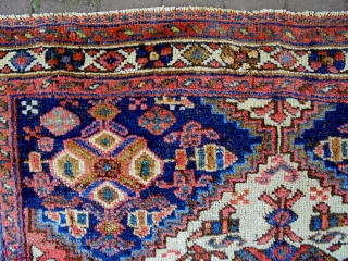 Afshar Bagface Size: 74x50cm Natural colors, made in circa 1910/20, there are moth bites at some very small areas.