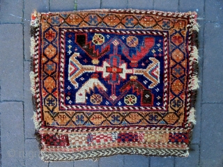 Afshar and Turkmen bags Size: 42x36cm and 52x27cm Made in period 1910/20, the Turkmen bag has fine quality