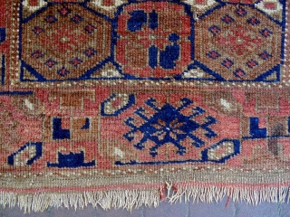 19th Century Baluch Size: 81x138cm Natural colors, there are moth bites