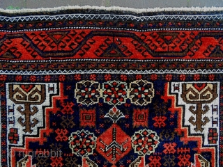 Salar Kahni Baluch Size: 98x175cm Natural colors, made in period 1910, the selvages are renewed.