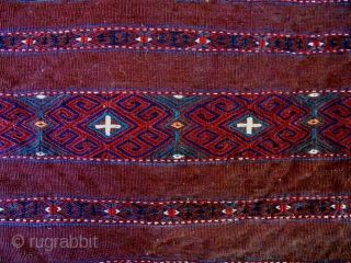 Very Fine 19th Century Caucasian Soumakh Cuval Size: 107x80cm Natural colors, there is an old repair