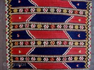 Monastir Kelim Size: 60x103cm Natural colors, made in period 1910/20