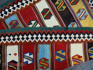 Fine Qasqhay Kelim Size: 140x190cm  Natural colors, made in circa 1910, there are professional old repairs