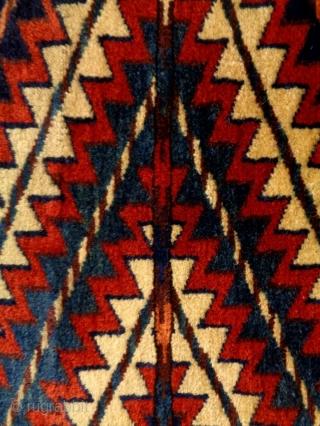 19th Century Turkmen Okpas Fragment Size: 65x61cm Natural colors