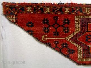Universal Design Turkmen Penjerelik Fragment Size: 160x40cm Natural colors, made in period 1910