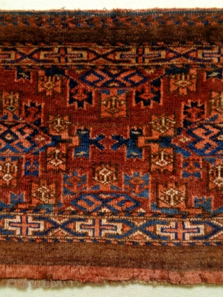 Turkmen Torba Size: 77x39cm Made in period 1910, it is used to be hung up, there are very very small moth bites .