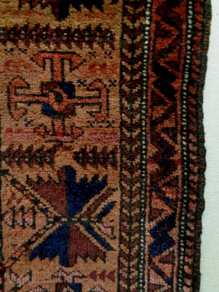 Baluch  Size: 39x90cm made in period 1920, there are moth bites