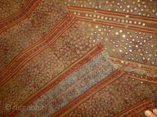 antique Indonesian Textile Size: 137x136cm (4.6x4.5ft) Natural colors