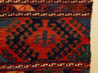 Two Caucasian Soumakh Bagfaces Size: 48x44cm, 46x46cm Natural colors, made in period 1910