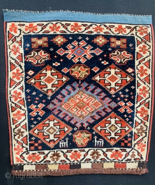 Varamin Bagface 1880 circa,all good colors and in good condition,size 65x60cm