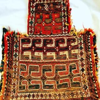 beautiful Bakhtiyari Saltbag sumac fragment,1870 circa-size 48x42cm