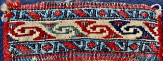Shahsevan small chanteh 1880 circa with two techniques kilim and sumak in very good condition•••size 25x20cm
