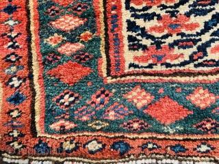 Persian Kurdish bagface 1880 circa all good colors-size 60x45cm