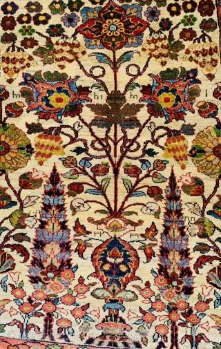 Antique Persian Bijar Rug 1870 circa,size170x125cm