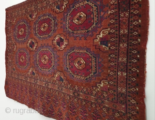 Antique Turkmen chuval in very good condition. Finely woven, paper thin. Measures 82x127 cm (ca. 32x50 inches). All natural dyes. Priced to sell.