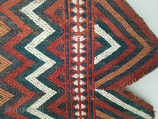 Excellent Turkmen Yomud flatwoven Ok Bash. Finely woven. All natural dyes. Nice color. Size is 56x66 cm (ca. 21x25 inches).