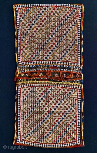 complete Qashqai khorjin 1880 circa perfect condition and all good colors•••size105x50cm