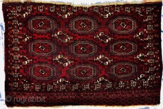 "19th century Tekke Salor Gul chuval 4'1""x2'9""/125x84cm"