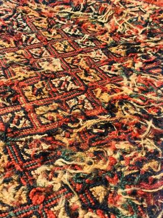 Beautiful antique small Kordi tribal Flatweave from Persian Quchan region-80x32cm