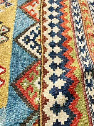 Qashqai Kilim 1870 circa in very good condition,size 282x150cm