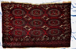 "19th century Tekke Salor Gul chuval 4'1""x2'9""/125x84cm"