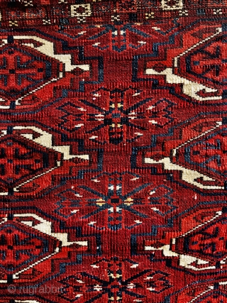 Akhal Oasis Tekke chuval from the first half of the 19th century. Size 114x74cm