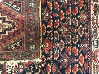 Kurdish bagface,circa 1880 wool on wool,size 86x70cm