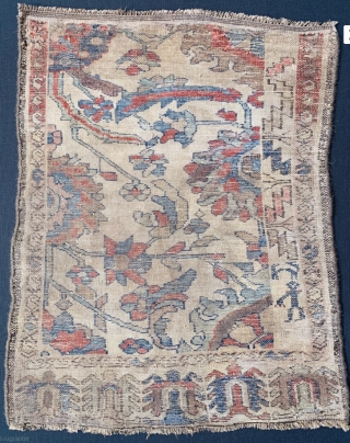 Very old wagireh from Hamedan region from family of shahsavan,s-size70x60cm-with turtle design symbol of long life In Persian cultur....