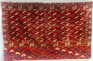 Fragment Akhal Oasis Tekke chuval from the first half of the 19th century,Size 114x74cm
