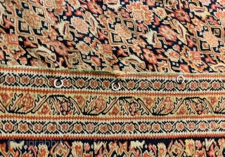 senneh kilim very fine quality 1860 circa with some old repairs   size 190x130cm
