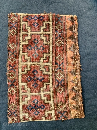 Salor 'Main Carpet' (Border Fragment)1800 circa,size30x20cm