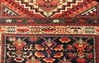 Kurdish Jaf bagface,circa 1880 wool on wool,original borders•••size 86x70cm