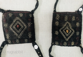 old Baluch tent pole cover's.decorated with coral buttons.