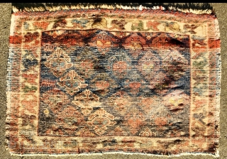 Afshar bagface 1880 circa with symmetrical knot-size 80x55cm