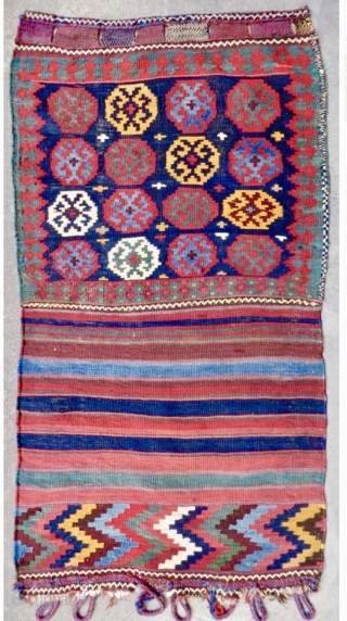varamin kilim bag 1880 circa-all good colors size 146x80cm