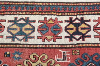Early 20th C, Caucasian Gendje Kazak Runner. Please Feel free to ast any question.