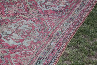 Antique Oushak Rug,Second Quarter of 19th C.Oushak Over size rug.