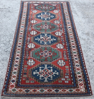 Early 20th C, Antique Karabag Kazak. Feel free to ask any question you want.