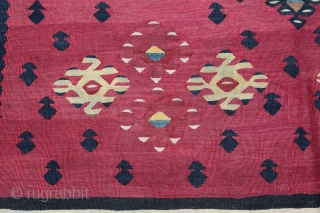 Antique Late 19th C. Sarkoy kilim, Top Collector. Size :6'6'' X 4' 5'' Feet, Feel free to ask any question in your mind.