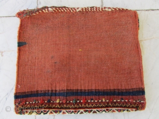 Sw persia bag with a small repair(the green in kilim back )Size:31 x 36 cm
