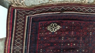 Afshar kuhi wool frings kilim with a tiny hole of villagers repair.needs a bath,Size:320x148 cm