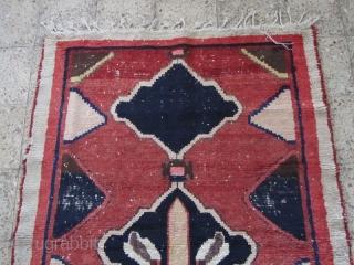 Bakhtiari gabbeh.Size:188 x 132 cm,washed