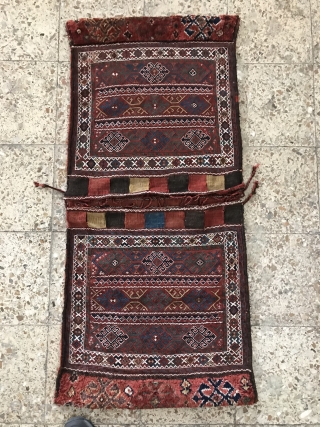 Kordish saddlebag in perfect condition,Circa:1880,Size:130X59 cm