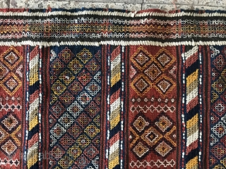 North of Persia Ghilich kilim ,305x142 cm,only a small tiny hole in the border