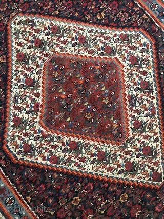 Seneh kordestan kilim,Size:154x114 cm,Came in after hand washing