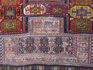 Antique Lor i Bakhtiari Saddlebag from 19th century ,Size:270x115 cm