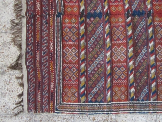 Ghilich kilim from Semnan,305x142 cm,end of 19th century
