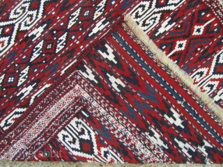 Turkmen Yamut kilim in perfect condition,Size:234x117 cm